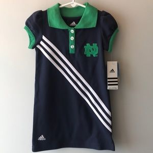 adidas Dresses - Notes Dame dress toddler size 4